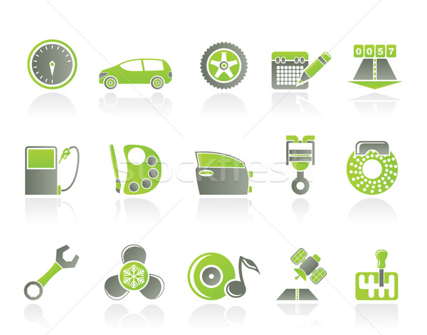 car parts, services and characteristics icons Stock photo © stoyanh