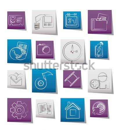Zdjęcia stock: Szkoły · edukacji · ikona · wektora · działalności