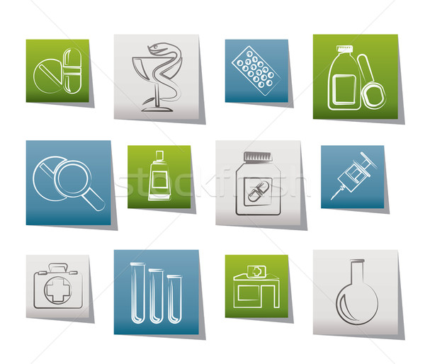 Stock photo: Pharmacy and Medical icons