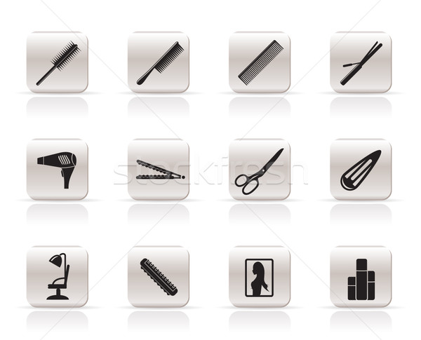 Make iconen vector huis haren Stockfoto © stoyanh
