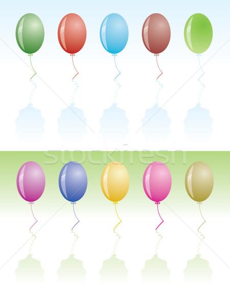 party design; ballons, confetti, vibrant colors Stock photo © stoyanh