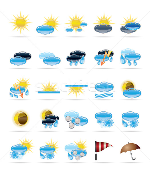 Weather icons Stock photo © stoyanh