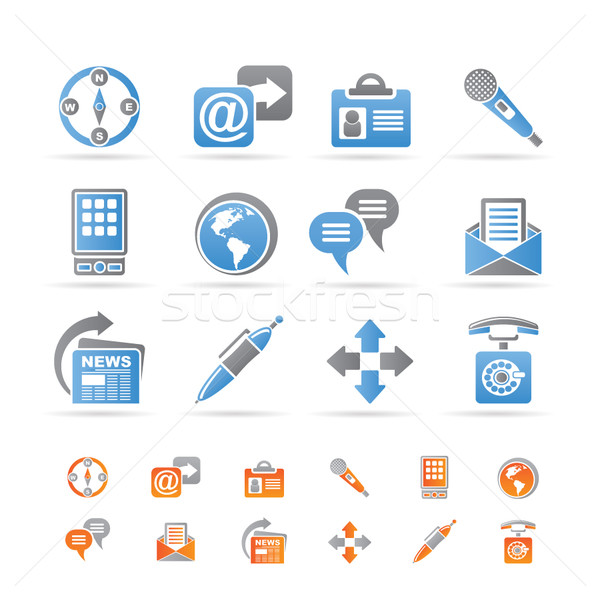 Business, office and internet icons Stock photo © stoyanh