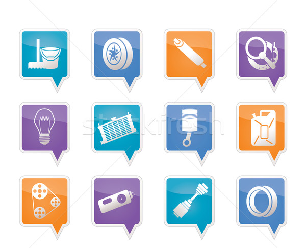 Car Parts and Services icons  Stock photo © stoyanh