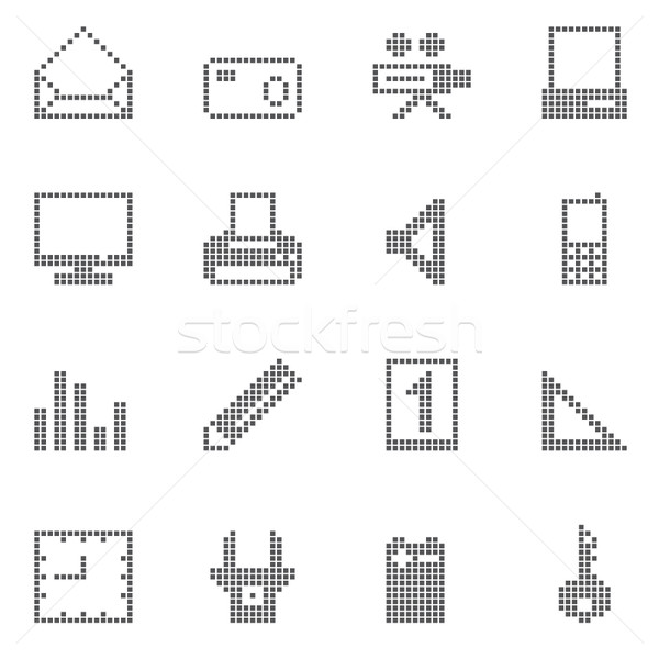 square office and home icon  Stock photo © stoyanh