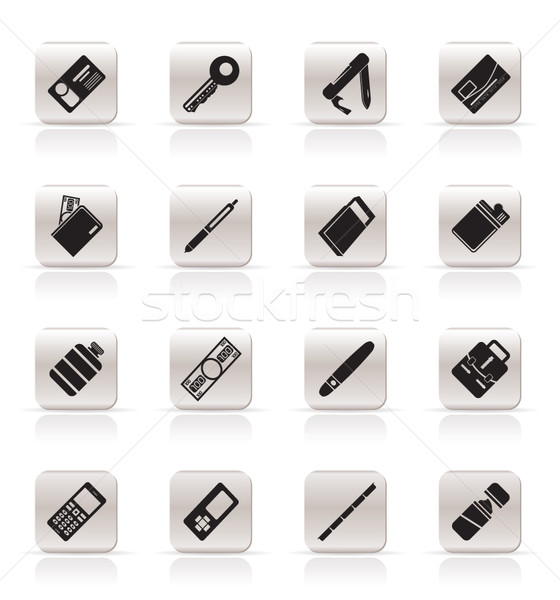 Simple Vector Object Icons Stock photo © stoyanh