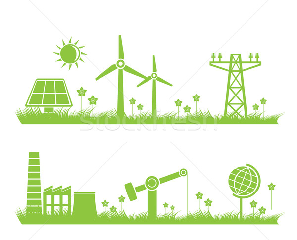 abstract ecology, industry and nature background  Stock photo © stoyanh