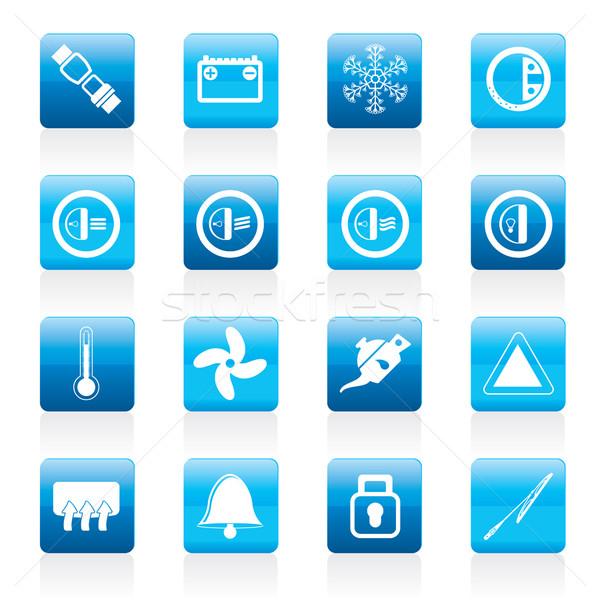 автомобилей приборная панель иконки вектора интернет Сток-фото © stoyanh