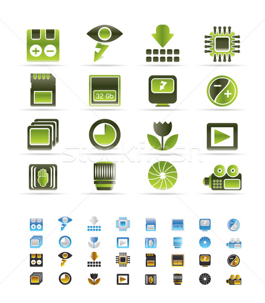 Digital Camera  Performance - Vector Icon Set  - 3 colors included Stock photo © stoyanh