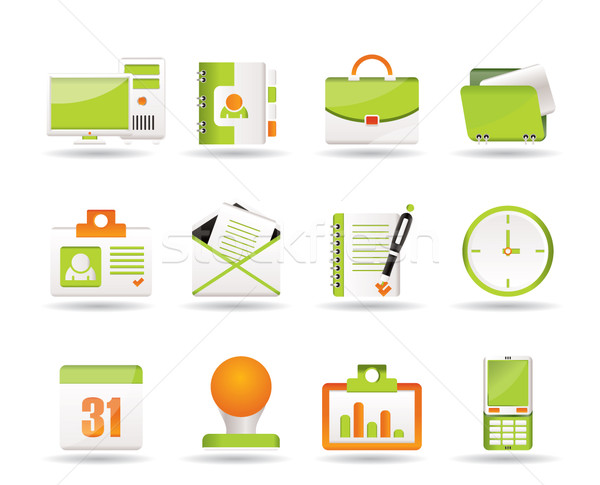 Stock photo: Web Applications,Business and Office icons, Universal icons