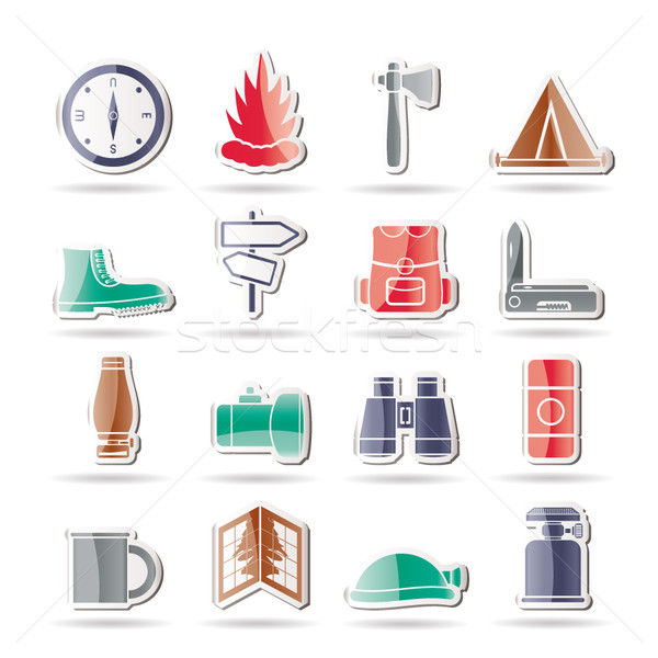 Toerisme vakantie iconen vector brand Stockfoto © stoyanh