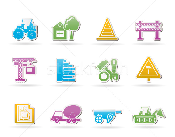 Construction and building Icons  Stock photo © stoyanh