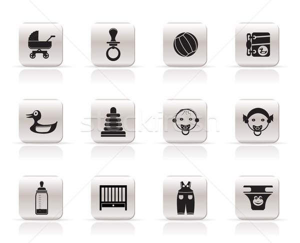 Stock fotó: Egyszerű · gyermek · baba · online · bolt · ikonok