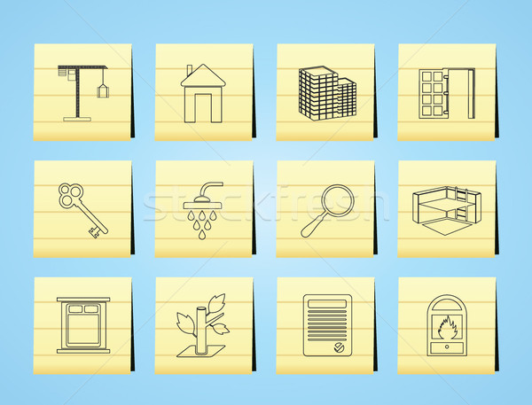Stock photo: Simple Real Estate icons