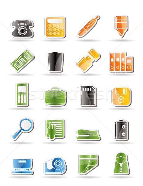 Proste biuro narzędzia ikona wektora Zdjęcia stock © stoyanh