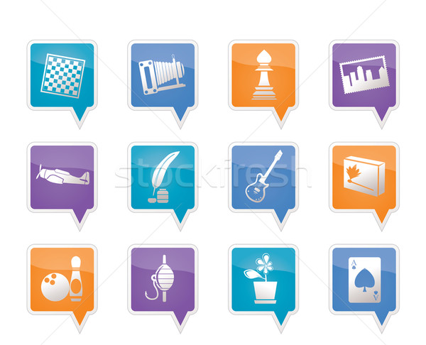 Hobby, Leisure and Holiday Icons  Stock photo © stoyanh