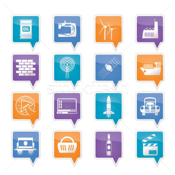 Stockfoto: Business · industrie · iconen · vector · auto