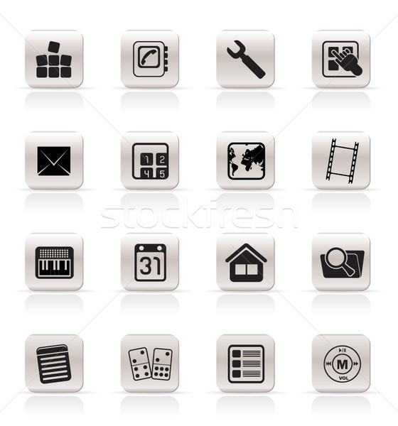 Simple Mobile Phone and Computer icon  Stock photo © stoyanh