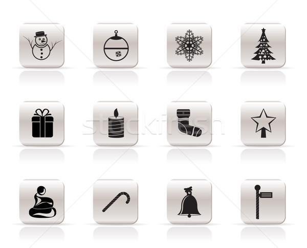 ストックフォト: 美しい · クリスマス · 冬 · アイコン · ベクトル