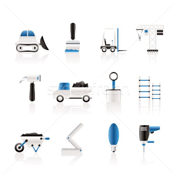Stock photo: Building and Construction equipment icons