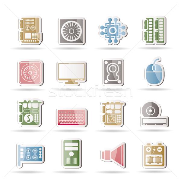Komputera wydajność wyposażenie ikona wektora Zdjęcia stock © stoyanh