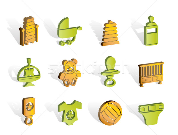 Child, Baby and Baby Online Shop Icons  Stock photo © stoyanh