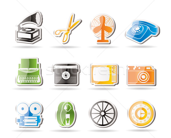 Simple Retro business and office object icons  Stock photo © stoyanh