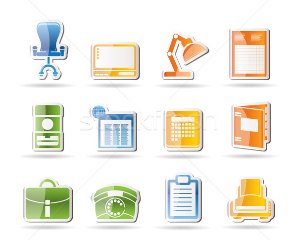 Simple Business, office and firm icons  Stock photo © stoyanh