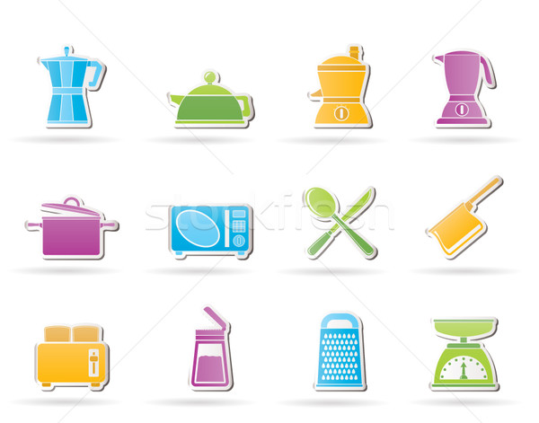 kitchen and household equipment icon  Stock photo © stoyanh