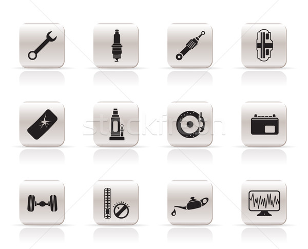 Simple Car Parts and Services icons  Stock photo © stoyanh