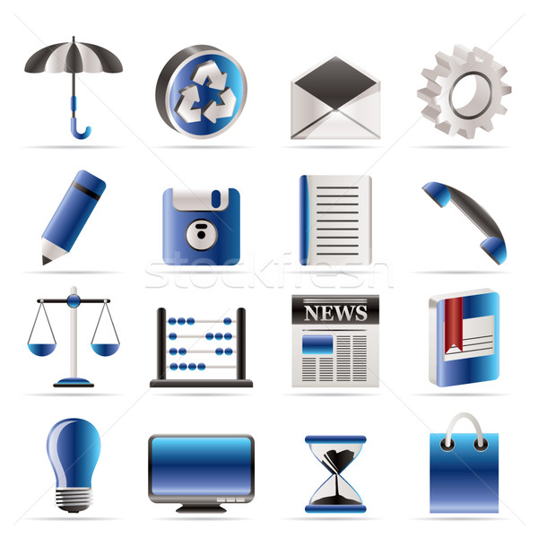 Business and Office internet Icons Stock photo © stoyanh