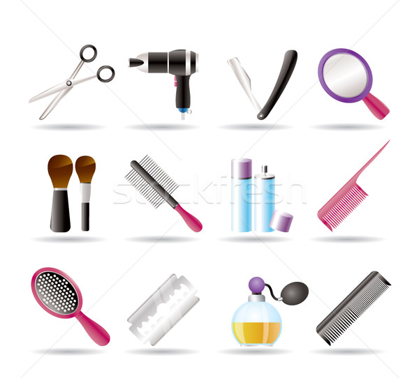 Cosmetische make-up iconen vector huis Stockfoto © stoyanh