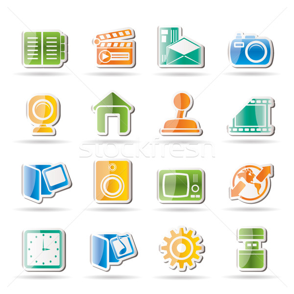 Stock photo: Internet, Computer and mobile phone icons