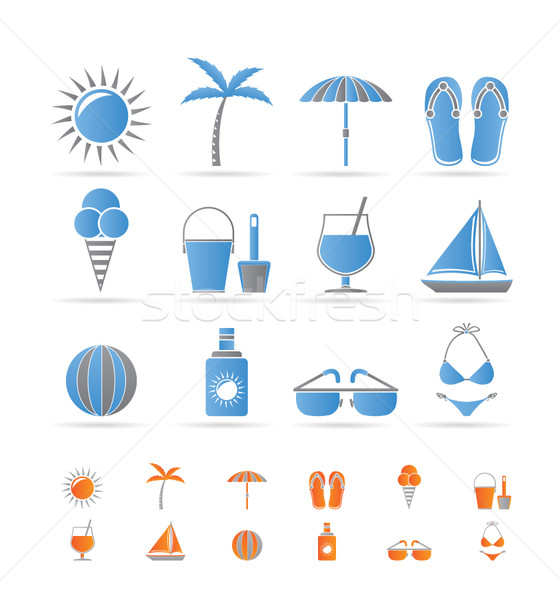 Realistic Summer and Holiday objects  Stock photo © stoyanh