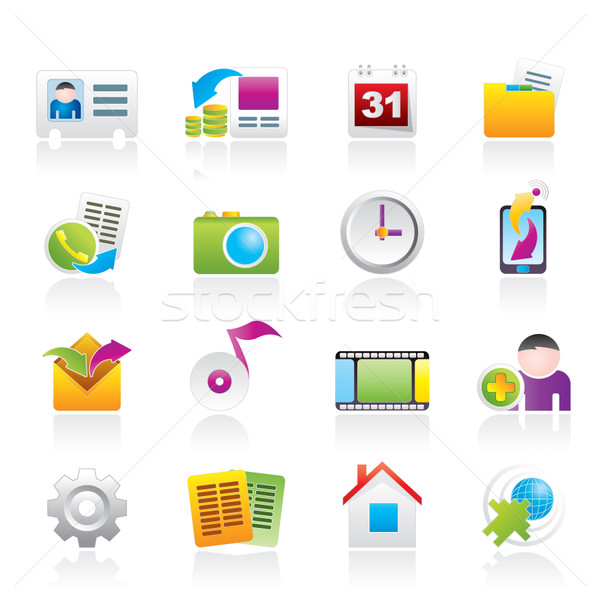 Mobile phone menu icons Stock photo © stoyanh
