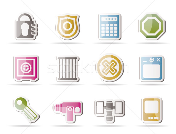 Stock photo: Security and Business icons