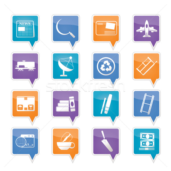 Stockfoto: Business · industrie · iconen · vector · boek