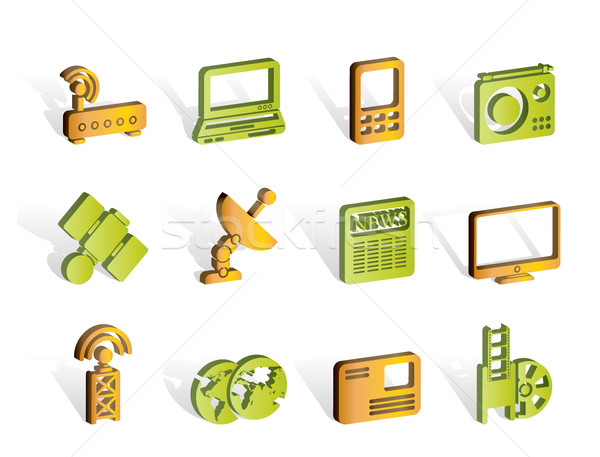 Business, technology communications icons  Stock photo © stoyanh