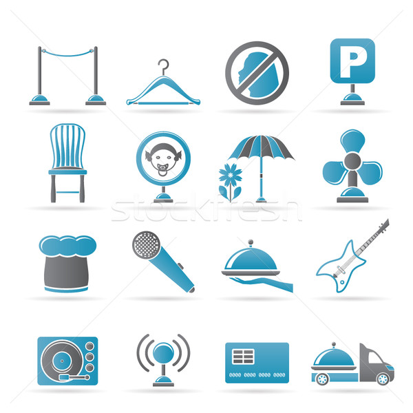 restaurant, cafe, bar and night club icons  Stock photo © stoyanh