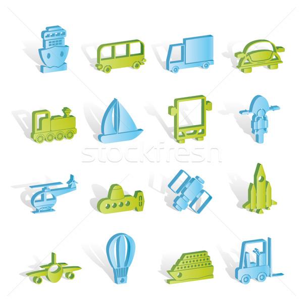 Transportation, travel and shipment icons Stock photo © stoyanh