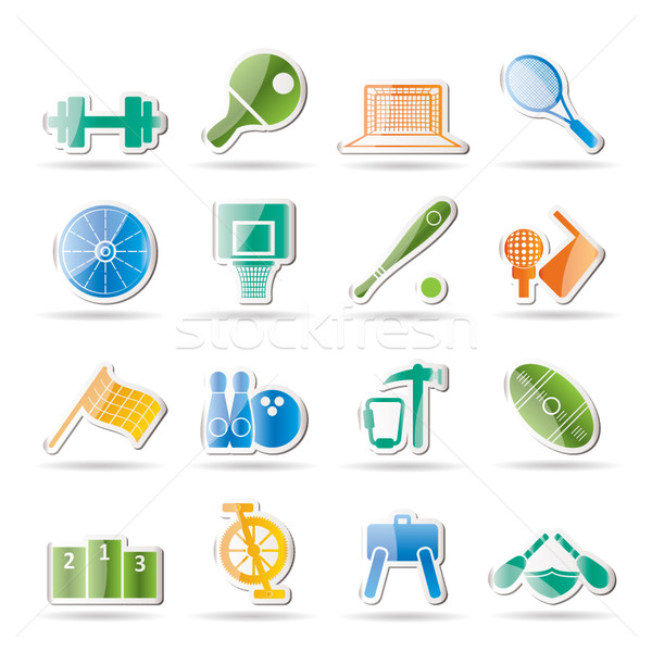 Stock photo: Sports gear and tools