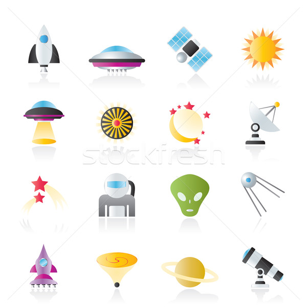 astronautics, space and universe icons  Stock photo © stoyanh
