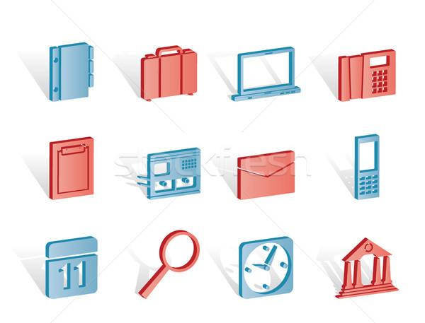 Działalności biuro telefonu komórkowego ikona wektora Zdjęcia stock © stoyanh