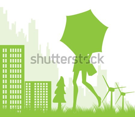 City, urban and airport background vector illustration