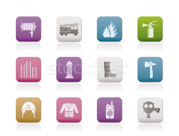 fire-brigade and fireman equipment icon  Stock photo © stoyanh