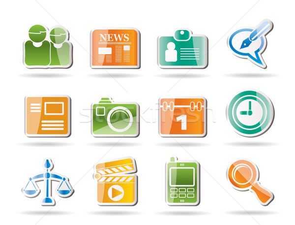 Simple Business and Office internet Icons  Stock photo © stoyanh