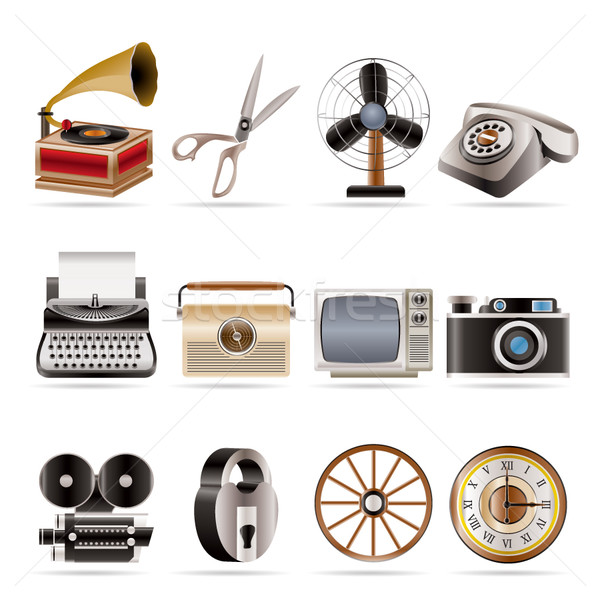 Retro business and office object icons  Stock photo © stoyanh