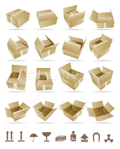 Photo stock: Expédition · boîte · vecteur · icône · signes · affaires