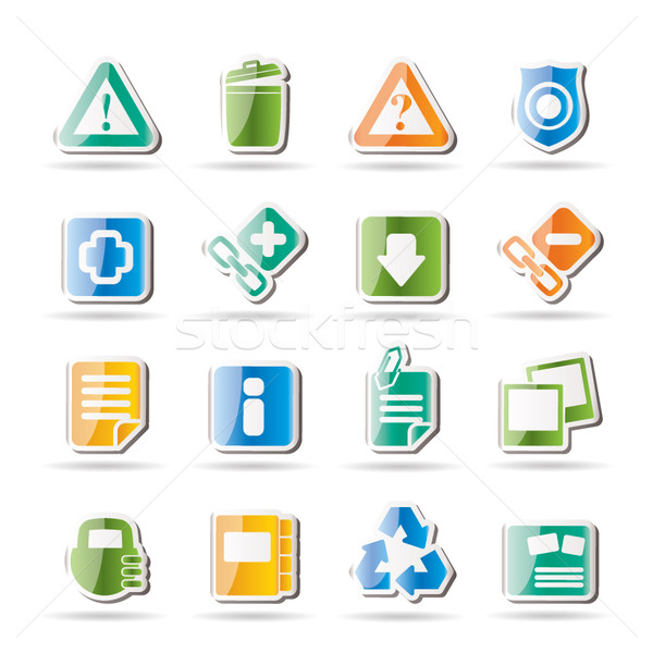 Stock photo: Web site and computer Icons