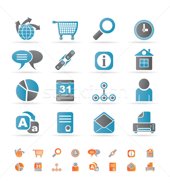 Web Site, Internet and computer Icons Stock photo © stoyanh
